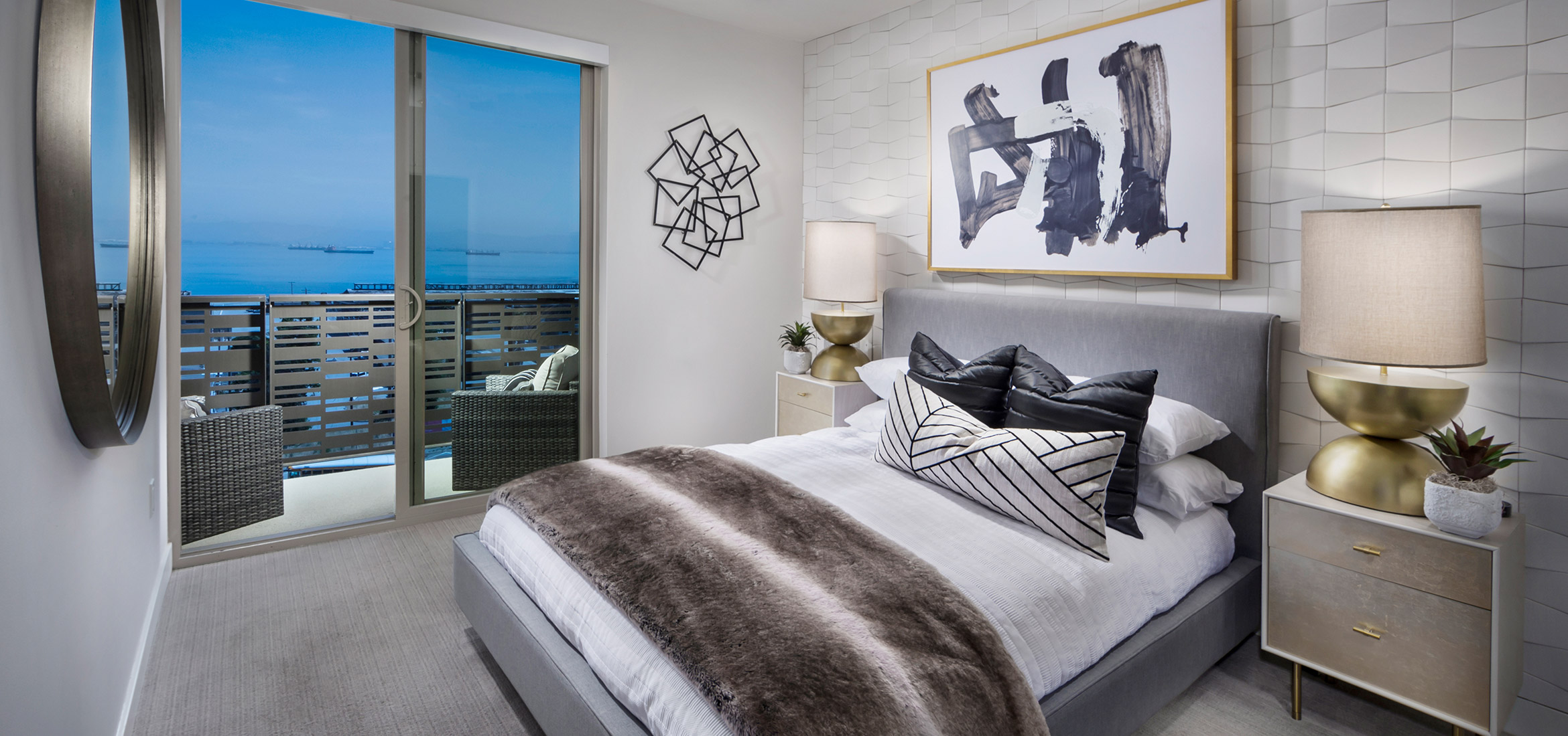 Stunning bay views from the master bedroom